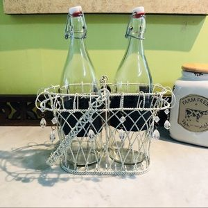 Other - Shabby Chic two bottle carrier.